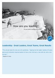 How are you leading?
