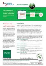 2010-266 Influencer - Leadershipresources