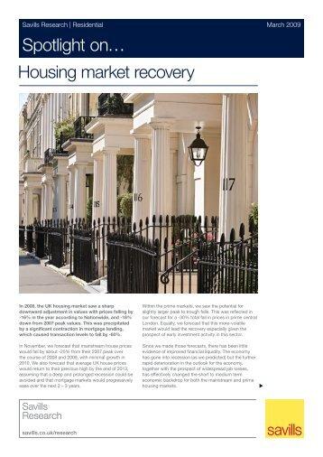 Spotlight on… Housing market recovery