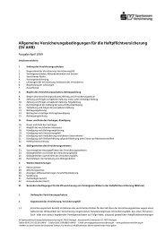 Allgemeine Versicherungsbedingungen für die Haftpflichtversicherung (SV AHB)