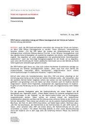 Pressemitteilung vom 25.08.2009 - SPD Northeim