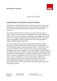 Pressemitteilung zu den Diskussionen über eine Kreisfusion