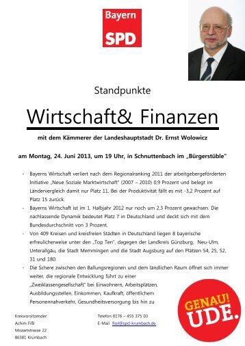 Wirtschaft& Finanzen