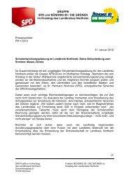 Schulentwicklungsplanung im Landkreis Northeim - SPD ...