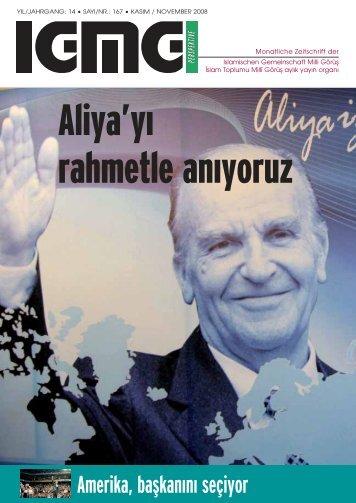 Aliya'y› rahmetle an›yoruz