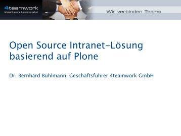 Open Source Intranet-Lösung basierend auf Plone