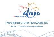 Preisverleihung CH Open Source Awards 2010