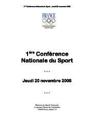Conférence 1 Nationale du Sport
