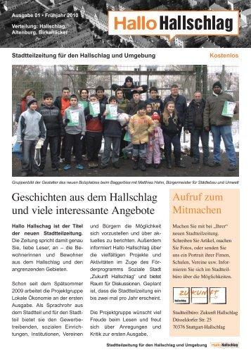 Hallo Hallschlag - Stadtteilzeitung Nr. 1, April 2010 (PDF