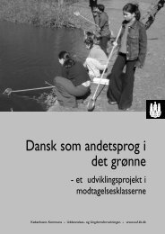Dansk som andetsprog i det grønne
