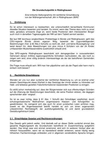 Diese Stellungnahme als PDF-Datei - Wir in Rödinghausen e.V.