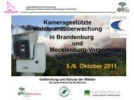 Kameragestützte Waldbrandüberwachung in Brandenburg und ...