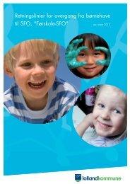 Retningslinier for overgang fra børnehave til SFO