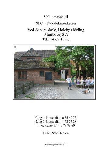 Velkomstfolder SFO I feb 2011 - Holeby Skole