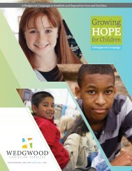 View Our Campaign Brochure - Wedgwood Christian Services