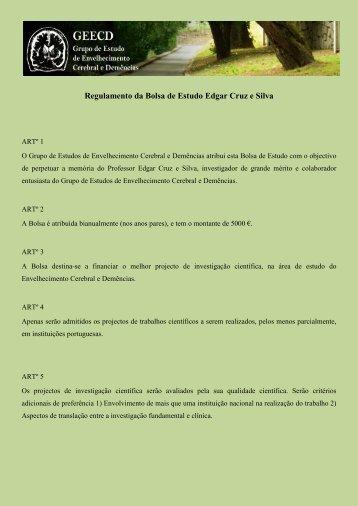 Regulamento da Bolsa de Estudo Edgar Cruz e Silva