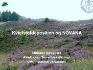 Kvælstofdeposition og NOVANA