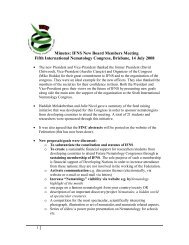 Minutes of the IFNS new board members meeting - International ...