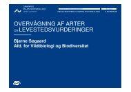 OVERVÅGNING AF ARTER OGLEVESTEDSVURDERINGER
