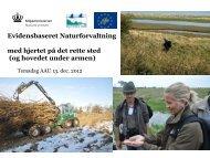 Evidensbaseret Naturforvaltning med hjertet på det rette sted (og ...
