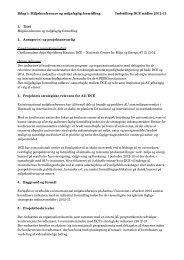 Bilag 1 - Institut for Bioscience - Aarhus Universitet