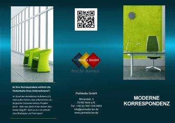 Moderne Korrespondenz pdf