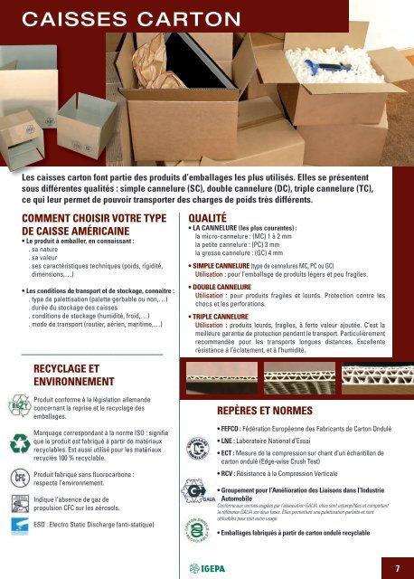 Caisse américaine en carton double cannelure 450 x 450 x 450 mm par 15