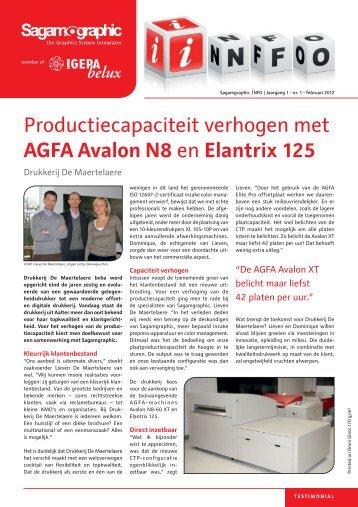 Productiecapaciteit verhogen met AGFA Avalon N8 en Elantrix 125