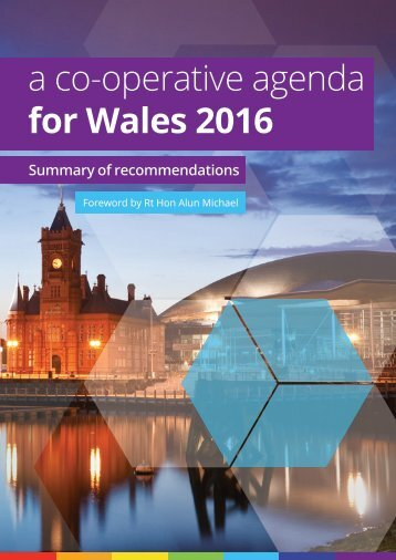 a co-operative agenda for Wales 2016