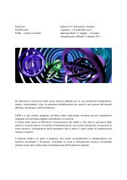 18 settembre 2011 FLOW - a work in motion Opening ... - Pia Myrvold
