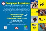 Paralympic Experience