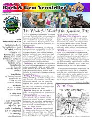 The Wonderful World of the Lapidary Arts