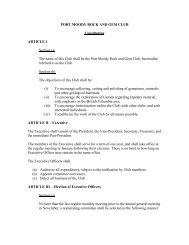 club constitution and bylaws - Port Moody Rock & Gem Club