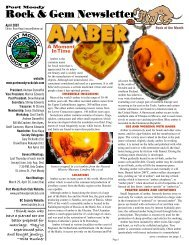 Rock & Gem Newsletter