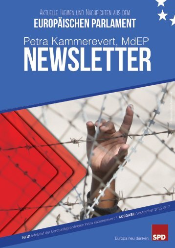 Infobrief der Europaabgeordneten Petra Kammerevert - Ausgabe: September 2015 Nr. 7