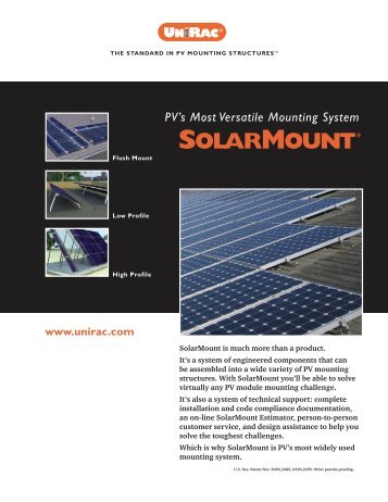 PV's Most Versatile Mounting System
