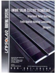 Roofing System Brochure - Kelln Solar