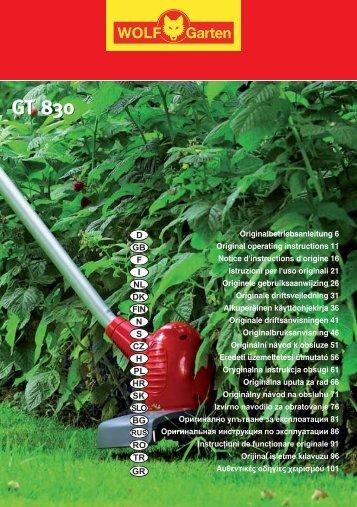 GT 830 GT 830 - WOLF-Garten NL