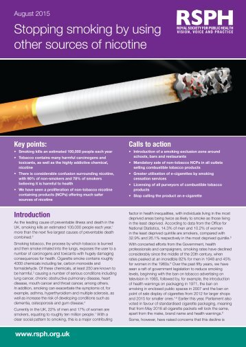 Stopping smoking by using other sources of nicotine
