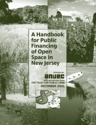 A Handbook for Public Financing of Open Space in New Jersey