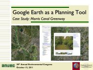 Google Earth as a Planning Tool