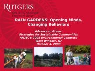 RAIN GARDENS Opening Minds Changing Behaviors