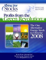 Profits from the Green Revolution - GreenerEnergy.ca