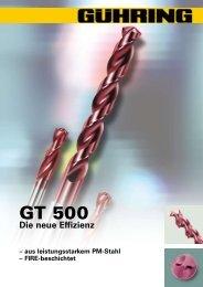 GT 500-Rundlaufgenauigkeiten - Gühring