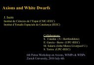 Axions and White Dwarfs