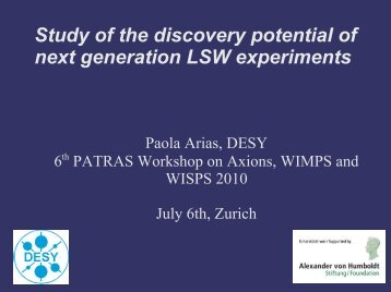 Study of the discovery potential of next generation LSW experiments