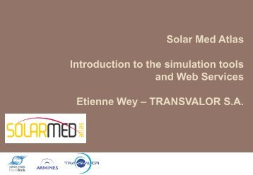 Solar Med Atlas Introduction to the simulation tools and Web ...
