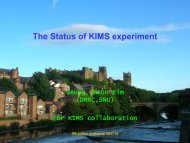 The Status of KIMS experiment