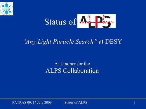 Status of ALPS