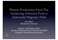 Photon Production From The Scattering of Axions From a Solenoidal Magnetic Field